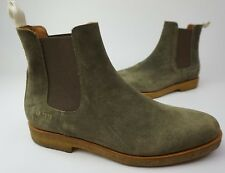 Common Projects Chelsea Boots Olive Suede Shoes Size 43