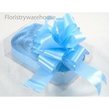 Florists Pull Ribbon Bows by Oasis® 5cm makes 15cm bow Box of 20 Pale baby blue