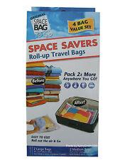 New Original Space Bag Vacuum Seal Travel Roll up bags, set of 4