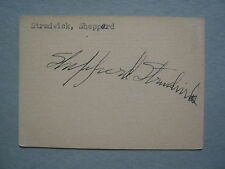 SHEPPERD  STRUDWICK  (Died  in  1983) All the King's Men  Signed   2 x 3  Card