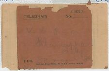 INDIA -  POSTAL HISTORY :  TELEGRAM COVER with CONTENTS