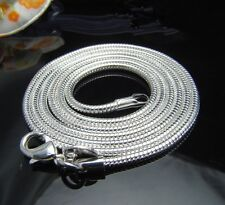 """Fashion beautiful neutral silver plated 2mm 20"""" 1pcs  EP snake chain necklace"""