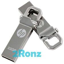HP v250w 32GB 32G USB Flash Pen Thumb Drive Disk Stick Silver Metal Lot of 10pcs