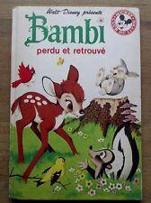 Bambi perdu et retrouvé Walt Disney Club Livre Mickey 1976