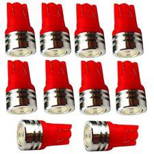 10x ampoule T10 W5W 12V LED rouge veilleuses  éclairage intérieur plafonnier