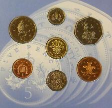 1991 Regno Unito Bu COIN SET BU ANNO 7-Medaglia ROYAL Nuovo di zecca pacco con grandi dimensioni 50p