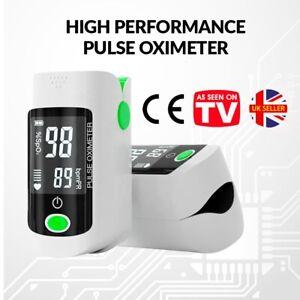 Fingertip Pulse Oximeter Blood Oxygen Monitor Saturation SpO2 UK