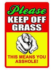 New listing Keep Off Grass Sign No Trespassing Sign Durable Aluminum Full Color No Rust