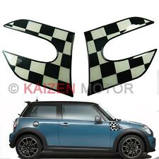 2xBlack Checker Vinyl Fender Side scuttles Stickers Decal 2014-Mini Cooper S F56
