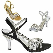 Stiletto Satin Evening & Party Strappy, Ankle Straps Heels for Women