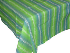 TOVAGLIA rettangolare x 12 righe verdi 140x240 puro cotone