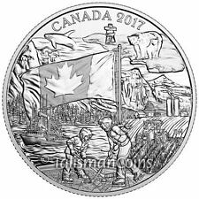 2017 Spirit of Canada Celebrating Canada's 150th Maple Leaf Flag $3 Pure Silver