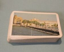 Vintage Piatnik Vienna Austria Quiet Port Scene Real Photo Playing Cards Deck