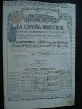 ACTION ESPAGNE SPAIN LA ESPANA INDUSTRIAL MADRID  1854