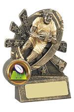 "Rugby Resin Trophy Award 4""/10cm  FREE ENGRAVING"