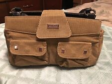 """MICHE CLASSIC PURSE SHELL """"Lydia"""" Tan Corduroy Pocketed Shell in Ex Condition"""