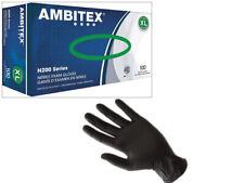 Ambitex Black Nitrile Gloves Examination XLarge -100/Box *Sealed Box*