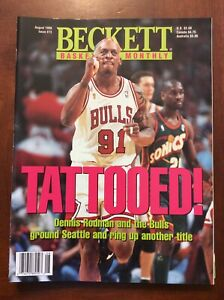 Beckett Basketball Monthly August 1996 # 73 Dennis Rodman Mint Condition
