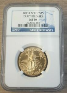 2013 Half Ounce Gold Eagle $25 United States NGC MS70 Early Releases