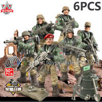 Call of Duty Military Mini Soldiers Army + Weapon Figures Fit Mega Construx Set