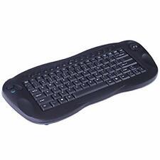 GOEASILY 2.4GHz RF Portable QWERTY Wireless Multimedia Optical Trackball Keyboad