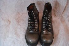 Dr Martens AirWair Rare England Made Metal Hook Eye Faded Green Boots US 10