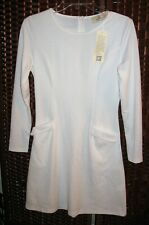 Grace Karin solid white dress S womens 4/6 pockets stretch new