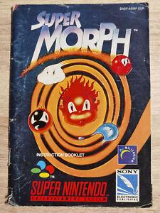 Super Morph super nintendo Nes Snes ( Manual Only)