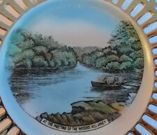 Killarney Waters Souvenir Irish Ireland Reticulated Plate German Schumann c.1940