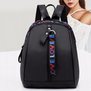 Women Waterproof Shoulder School Bags Oxford Zipper Travel Handbag Backpack