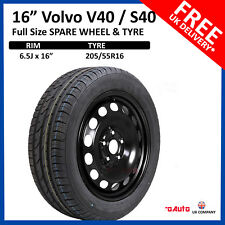 "Volvo S40 / V40 2004-2017 16"" FULL SIZE STEEL SPARE WHEEL AND TYRE 205/55R16"