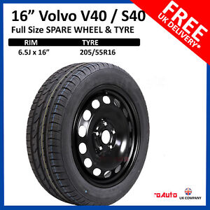 """Volvo S40 / V40 2004-2020 16"""" FULL SIZE STEEL SPARE WHEEL AND TYRE 205/55R16"""