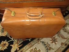 VINTAGE SUITCASE TOP GRAIN COWHIDE LEATHER LUGGAGE Made for Saks Fifth Avenue #2