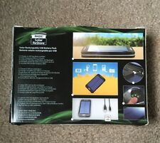 """Solar Rechargeable USB Battery Pack """"REDUCED PRICE"""""""