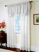 Elegance© 1 Piece Solid Sheer Window Curtain/Panel or Valance