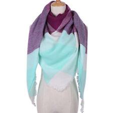 Womens Winter Warm Tartan Check Neck Shawl Scarf Wrap Stole Plaid Pashmina LaJB