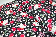 BONJOUR KITTY KOKKA JAPON USA Tissu design ROCKABELLA CERISES MOTIF CERISES D