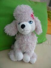 Barbie Pudel Sequin sitzend 30 cm groß Nici 34365 rosa weiß Hund Neuwertig