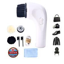 Electric Shoe Polisher Portable Handheld Shoe Sofa Shine Kit Scrubber Brushes