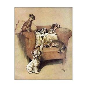 """7227777 10""""x8"""" (25x20cm) Print of A House Full by Cecil Aldin"""