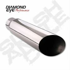"DIAMOND EYE 4512BAC-DE - 4"" x 5"" x 12""  SS St Exh Tip w/ Embossed Logo"