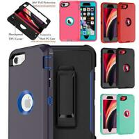 For NEW IPHONE SE 2nd GEN 2020 Armor Holster Case Cover Belt Clip Fits Otterbox