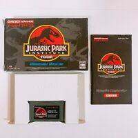 Jurassic Park Institute Tour Dinosaur Rescue Game Boy Advance GBA Nintendo Japan