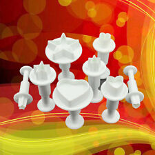 8 pcs Star  Heart Cake Fondant Sugarcraft Cutter Plunger Cookies Decorating Tool
