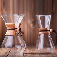 Glass Coffee Pot Heat Resistant Handmade Brewer Cup Filter Drip Maker Coffeeware