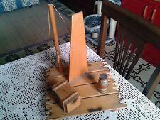 Modellino di zattera con albero vela cassa barile imbarcazione nave-Raft-Radeau