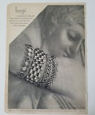 1946 BERGE 24-karat gold-plated bangle bracelet vintage jewelry ad