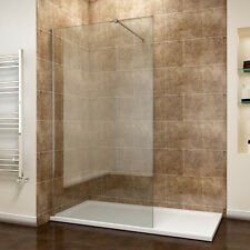 Walk in Shower Cubicle Enclosure and Tray &waste Screen Panel Wet Room 1400x900mm 760mm