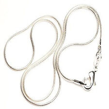 """Silver Tone Lobster Clasp Snake Chain Necklaces 24"""""""