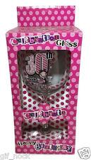 30th  BIRTHDAY GIFT Happy Birthday  Celebration Glass